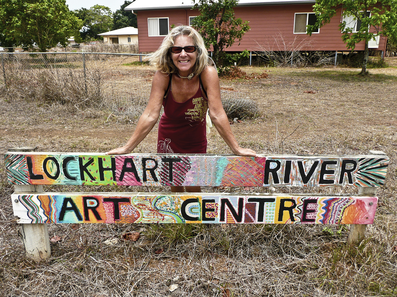 Sylvie at Lockhart River art centre