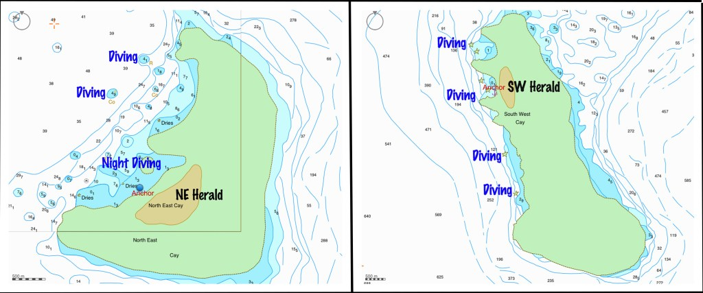 Herald Cays maps