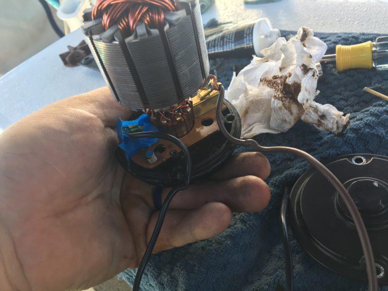 Pump rebuild at anchor