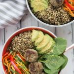 Turkey Meatball Quinoa Bowl