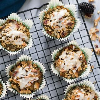 Blackberry Lemon Overnight Oatmeal Muffins