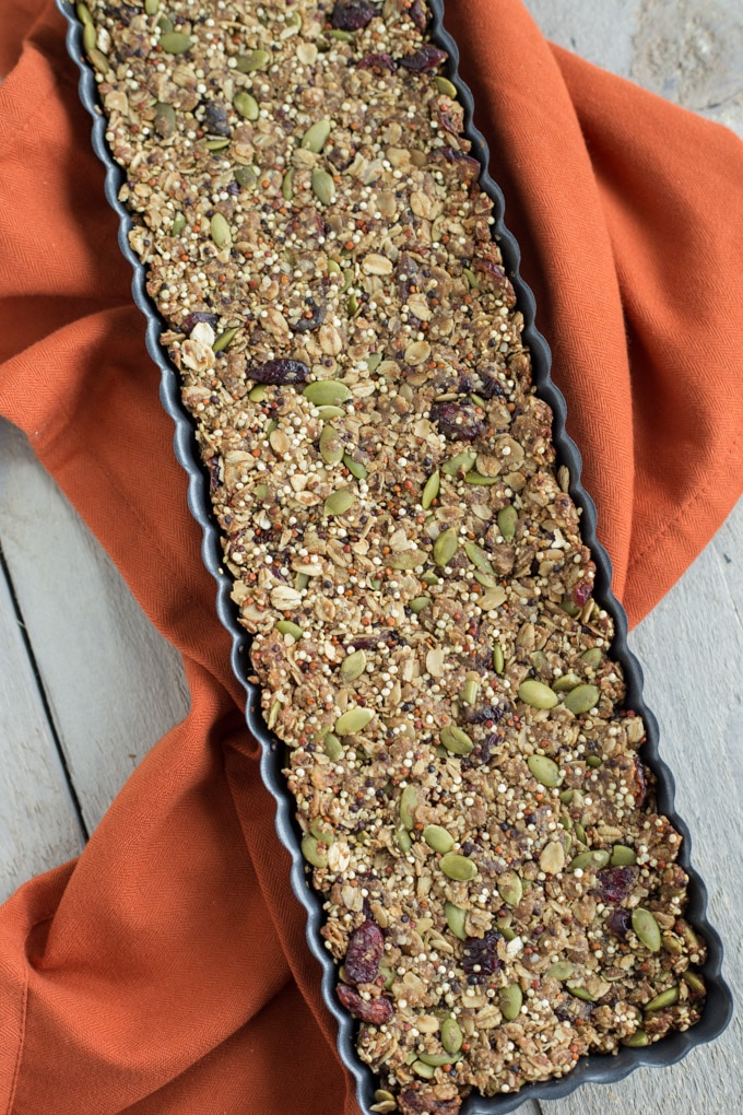 Cranberry Pumpkin Spice Granola Bars