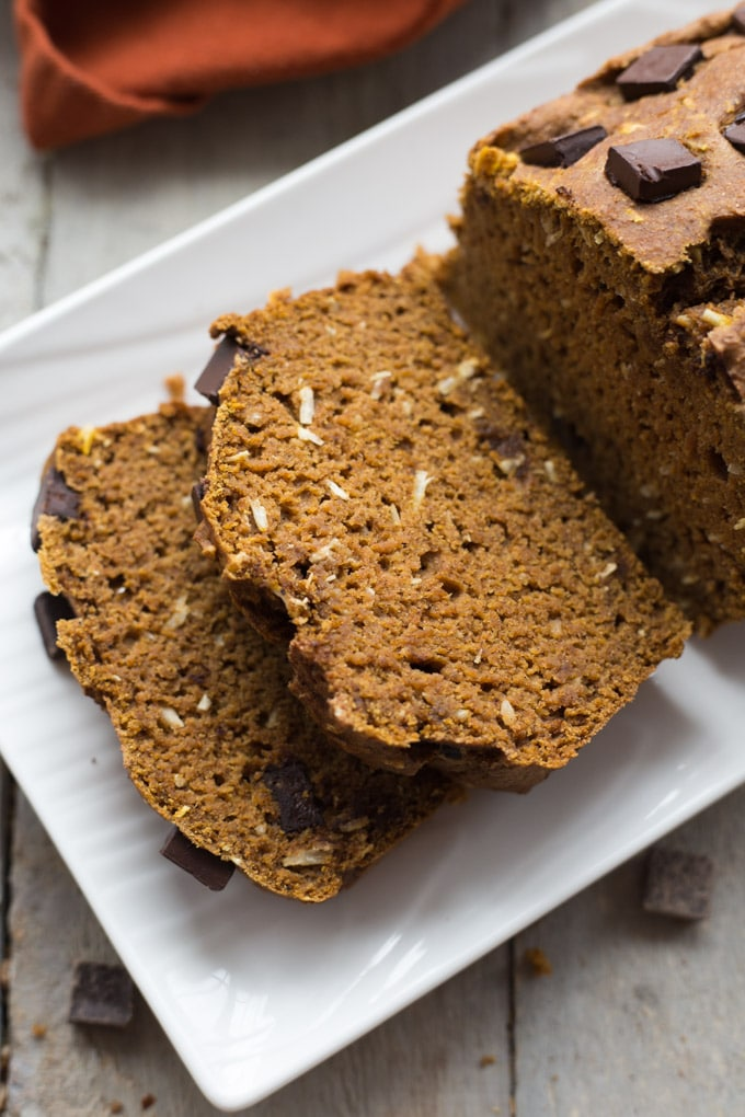 Coconut Chocolate Chunk Pumpkin Loaf