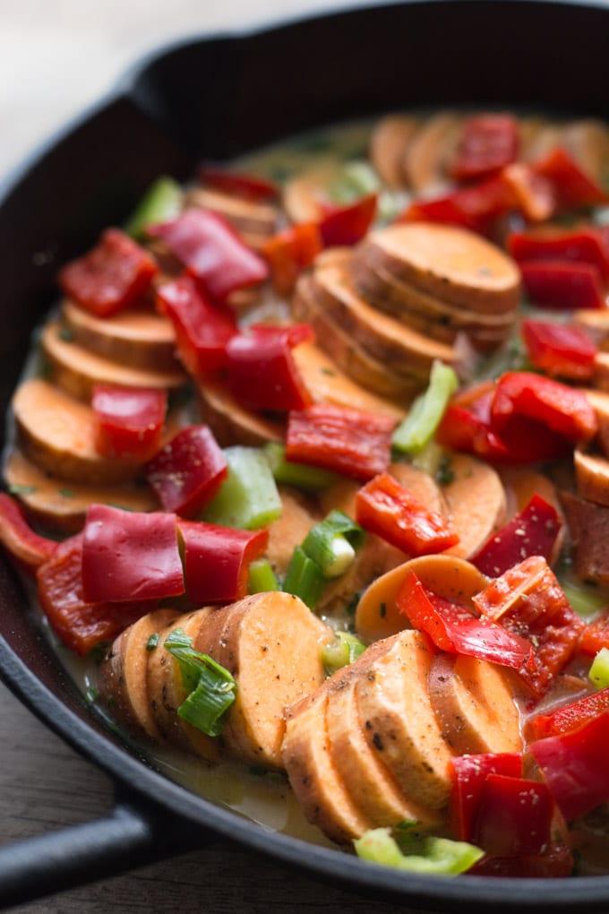 Savoury Sweet Potato Breakfast Skillet