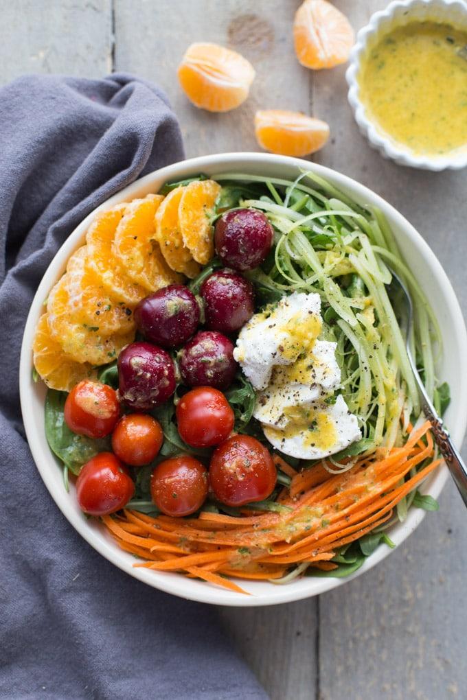 Winter Sunshine Salad with Citrus Honey Dressing