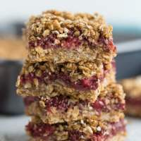 Strawberry Chia Jam Oat Bars
