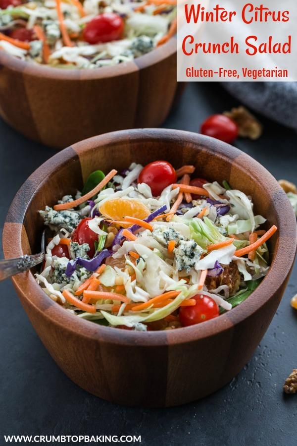 Pinterest image for Winter Citrus Crunch Salad.