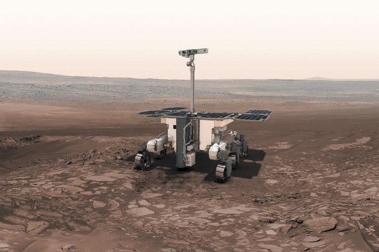 Représentation artistique du Rover ExoMars 2020