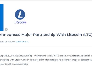 """Le canular de Litecoin met en évidence le marché de la crypto vulnérable aux escroqueries : """" Walmart n'a aucune relation avec le litecoin """", déclare un détaillant à grande surface"""