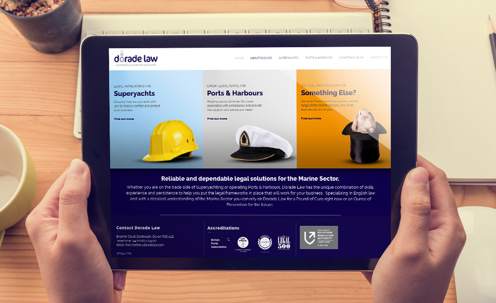 Dorade Law website design