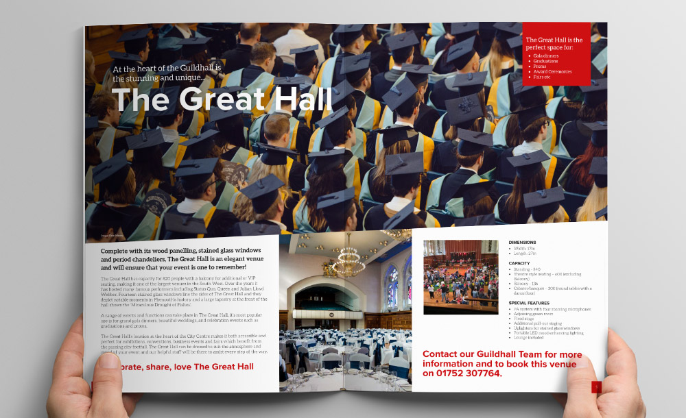 Plymouth Guildhall Brochure Design