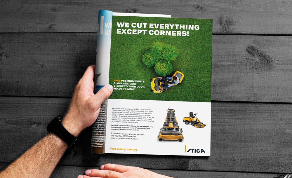 STIGA Garden Tractor Advert Design