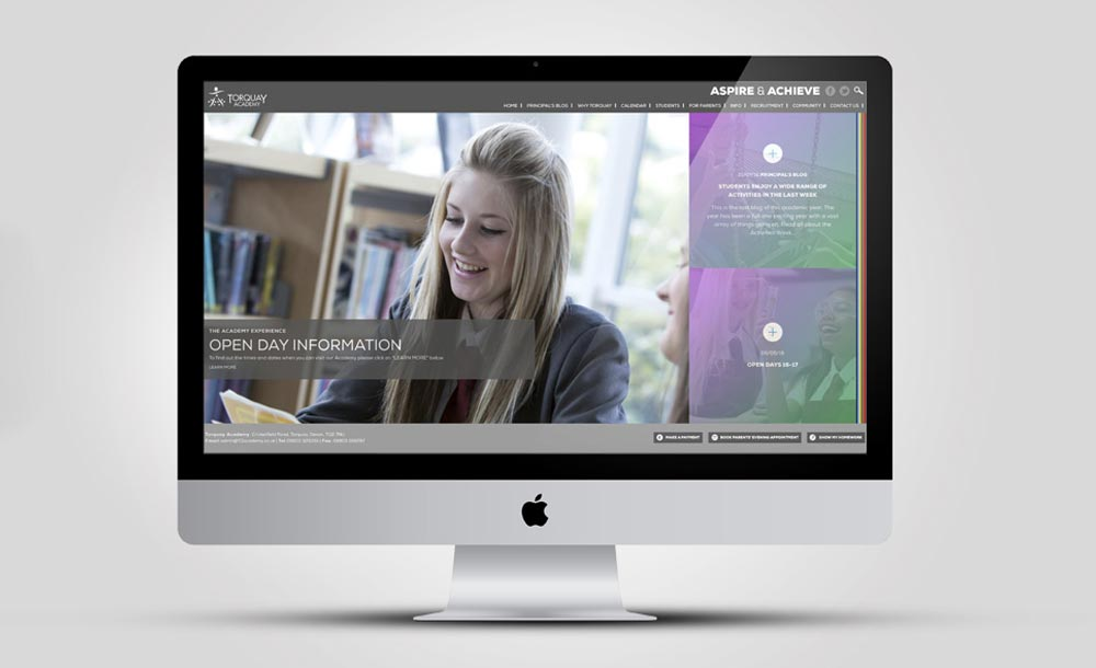 Torquay Academy website design
