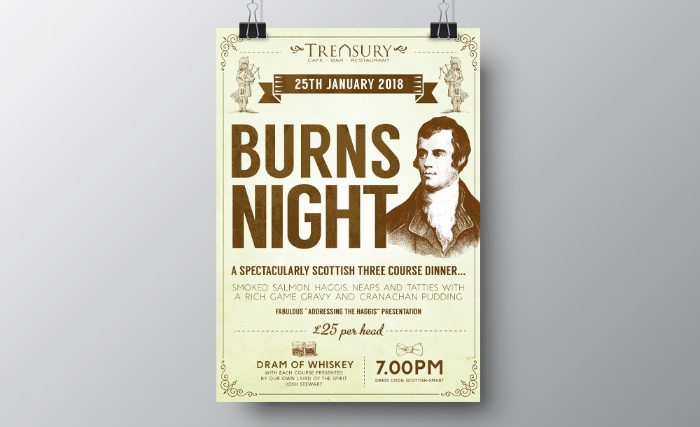 Burns Night advertising design