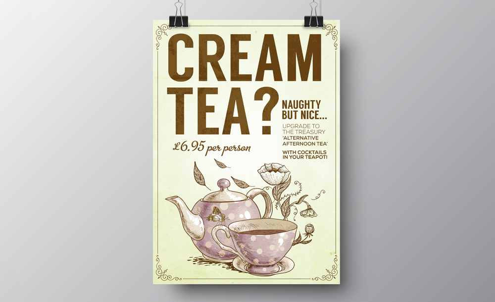 Treasury Cream Tea advertising design