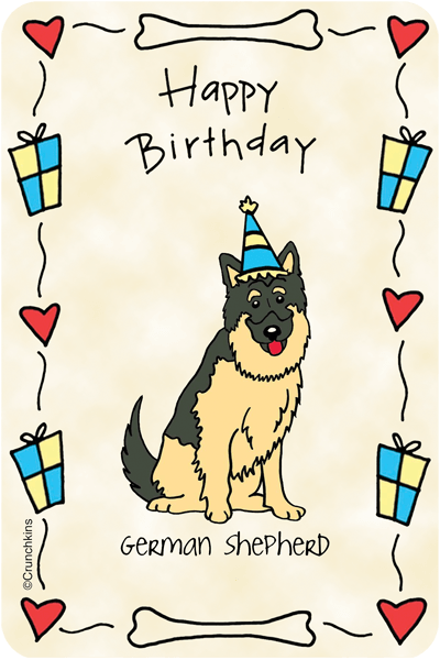 German Sheperd Happy Birthday