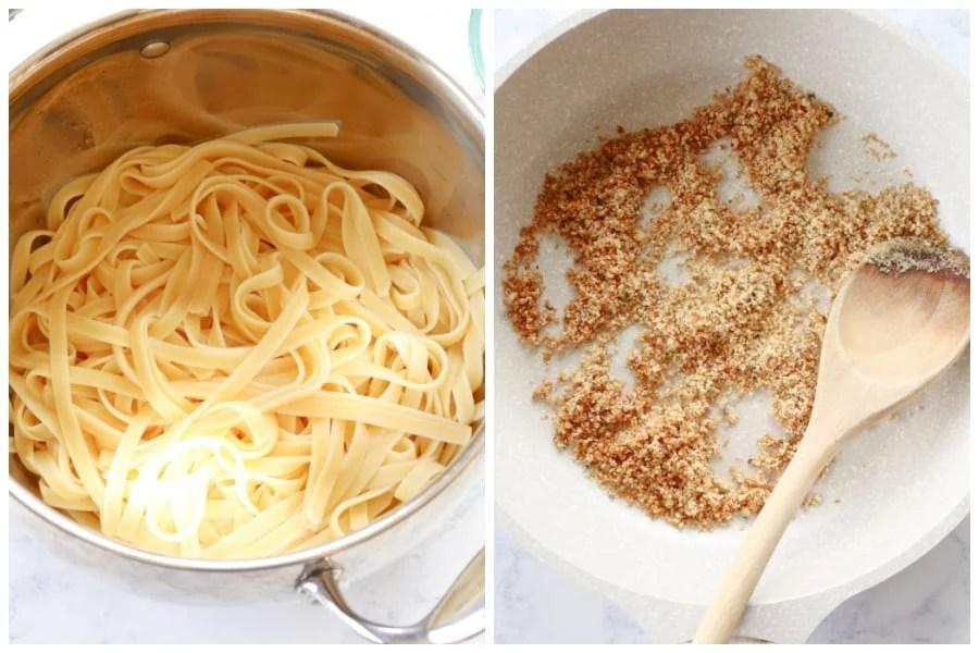 lemon ricotta pasta step 1 and 2 Best Lemon Ricotta Pasta