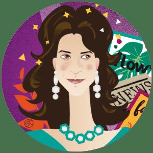 Michela Di Carlo Portrait   Stefania Tomasich illustration   CrunchyTales