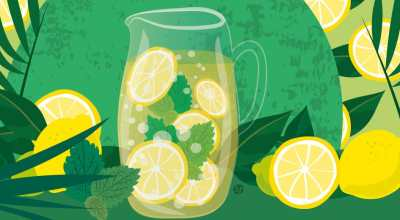 Lemonade Illustration By Stefania Tomasich For CrunchyTales.com