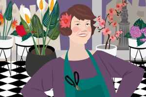 Ursula Stone Flower Bank | CrunchyTales Stefania Tomasich