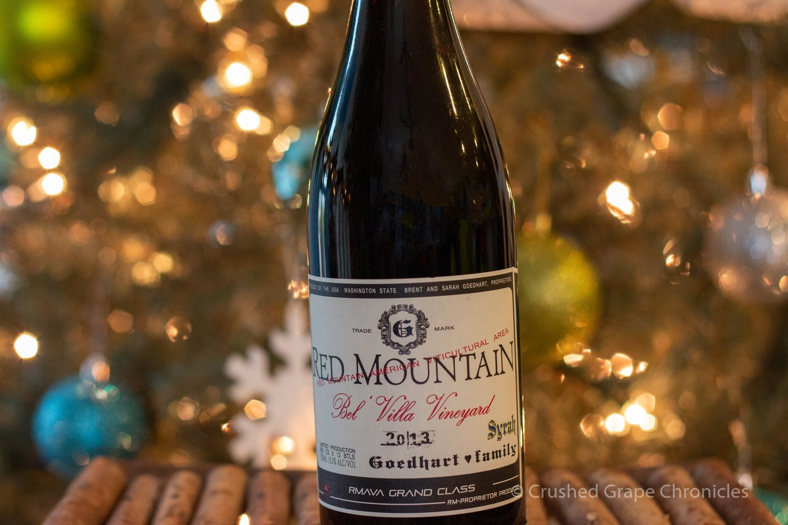 2013 Goedhart Family Red Mountain Syrah Bel Villa Vineyard from the Hedges Family