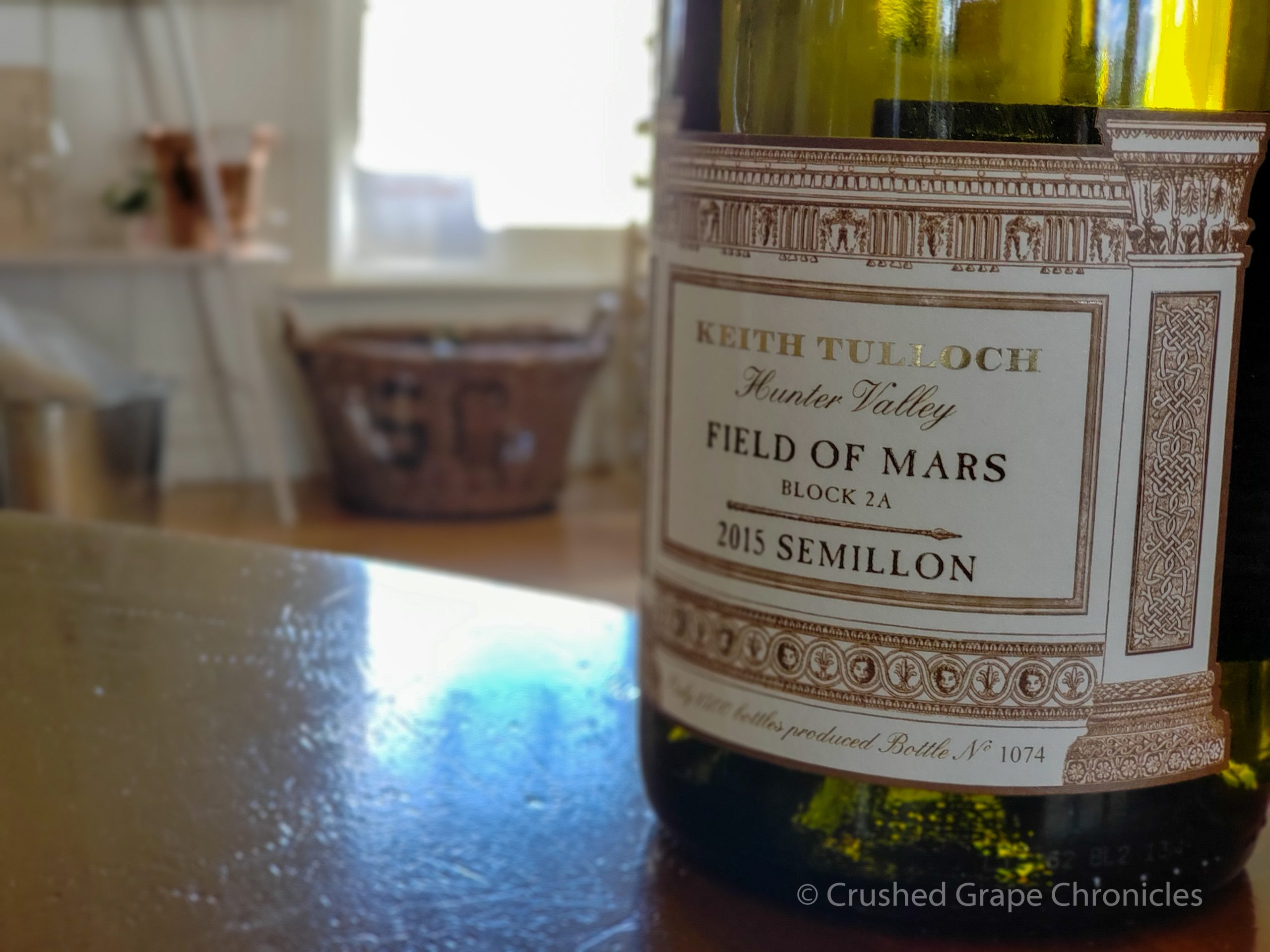 Keith Tulloch Wines in Hunter Valley Australia, a carbon neutral winery, 2015 Semillon