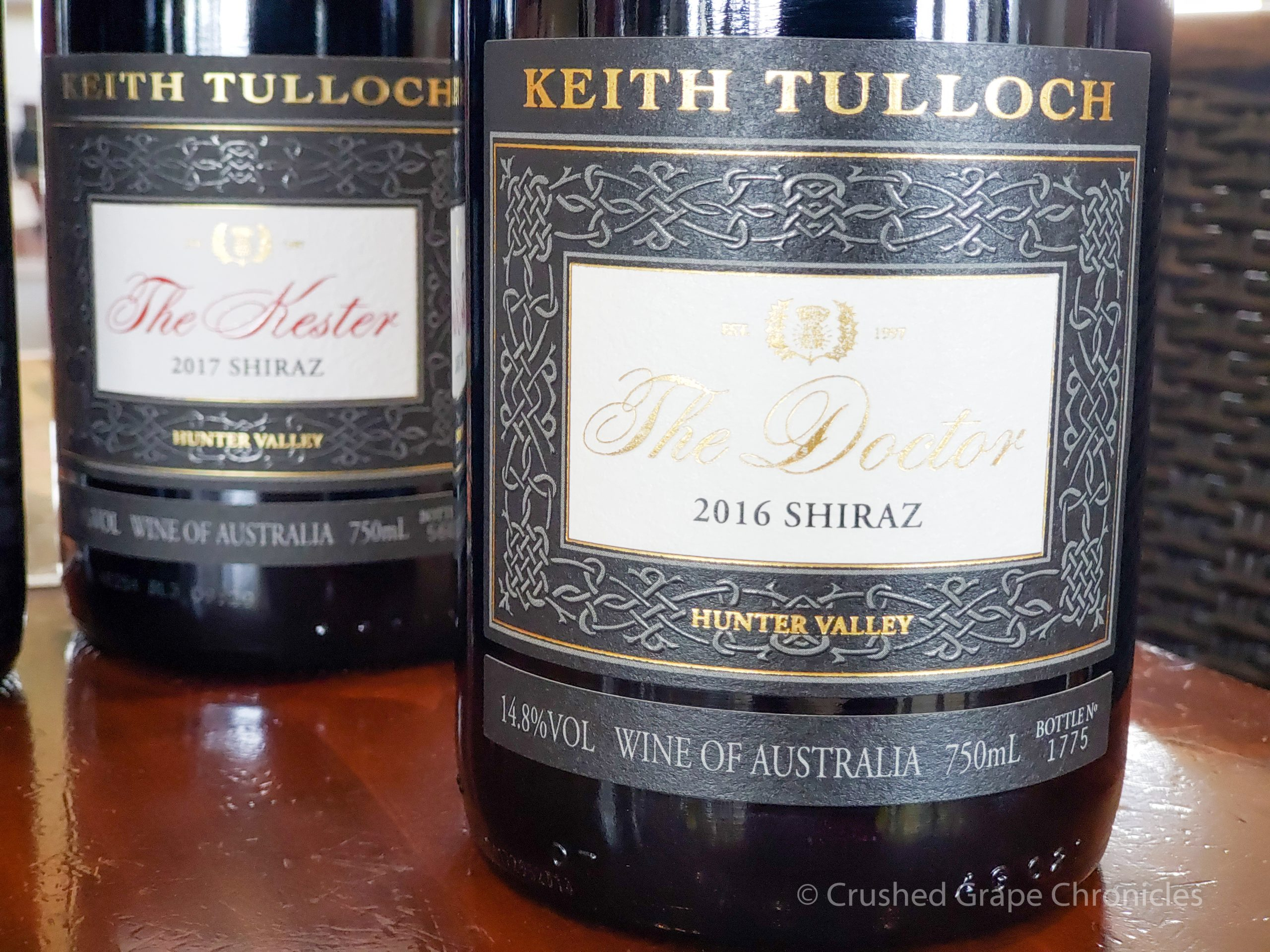 Keith Tulloch Wines in Hunter Valley NSW Australia, a carbon neutral winery, 2016 shiraz
