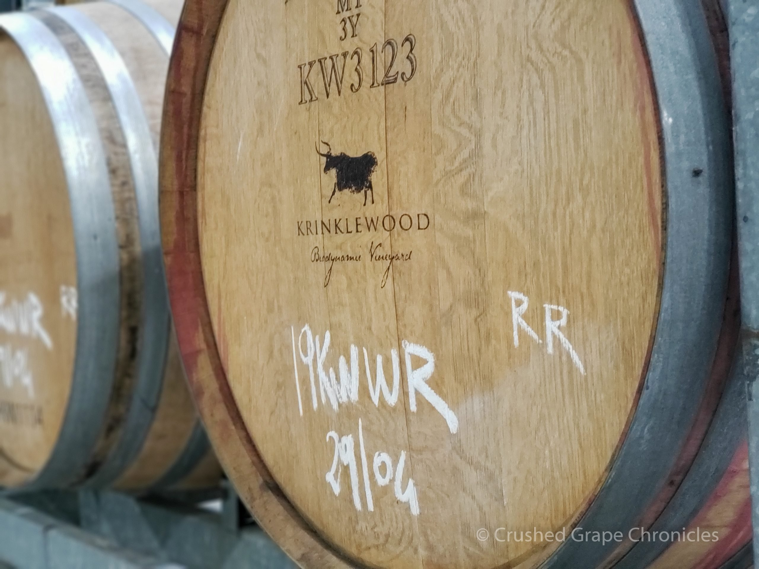 Krinklewood in Hunter Valley Australia 2018 Biodynamic Vineyards Barrel Room