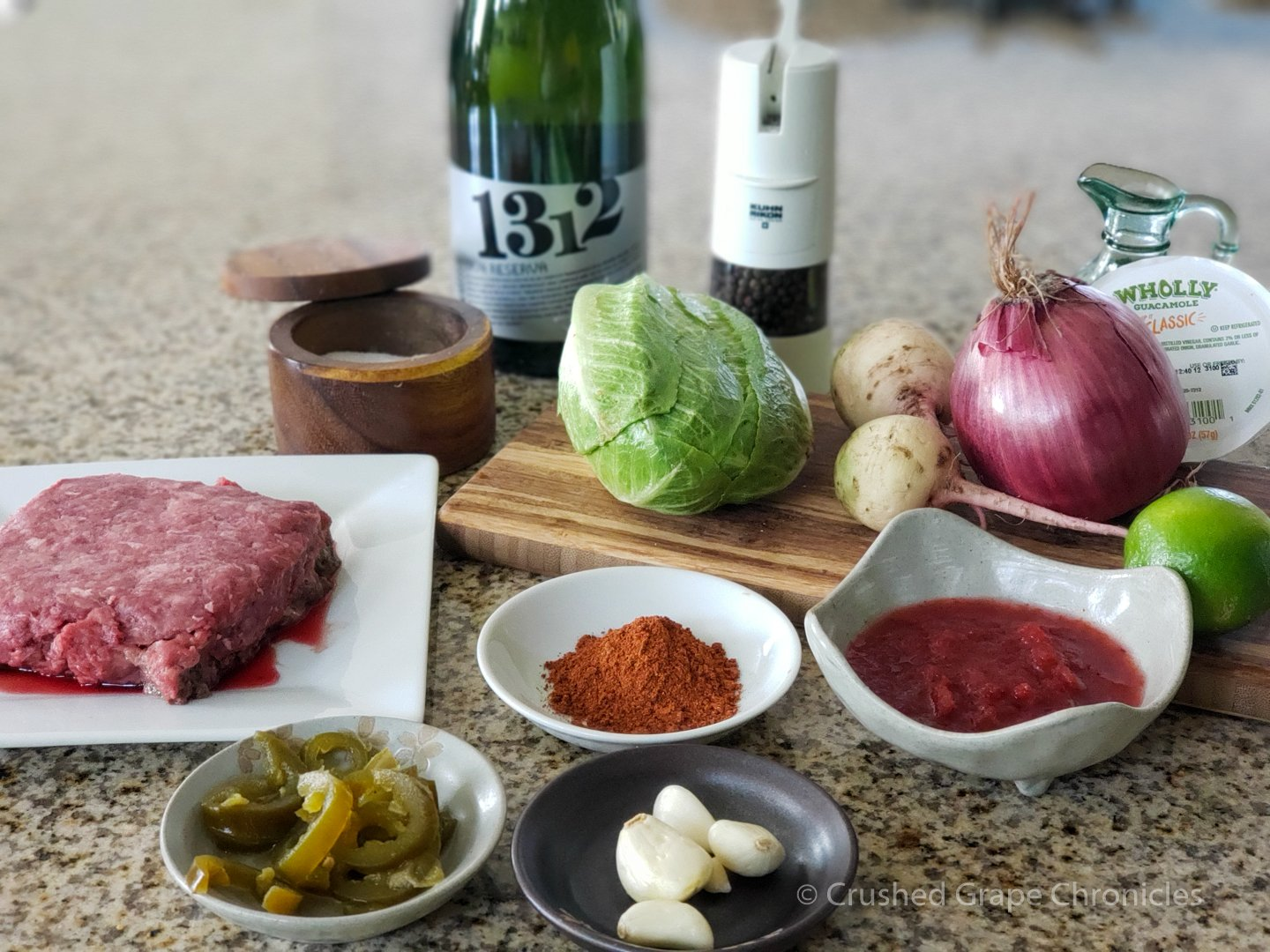 Cava & Beef dzik ingredients