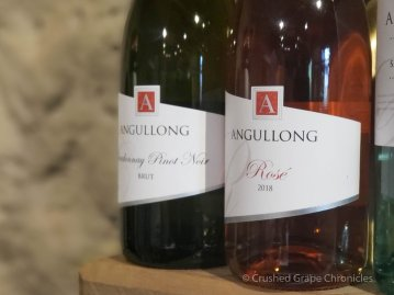Angullong Rose and Chardonnay Pinot Noir Brut at Angullong Vineyard in Cellar Door in Millthorpe, Orange NSW Australia