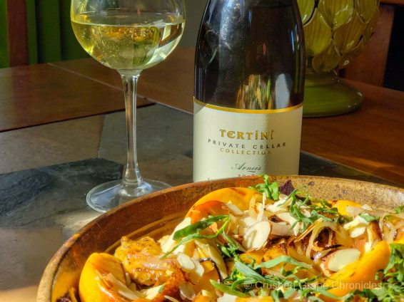 Tertini Private Cellar Collection Arneis with grilled peach, chicken and tarragon salad