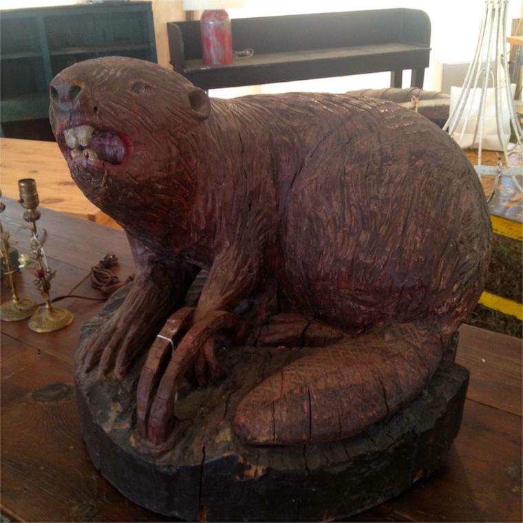 Carved Beaver