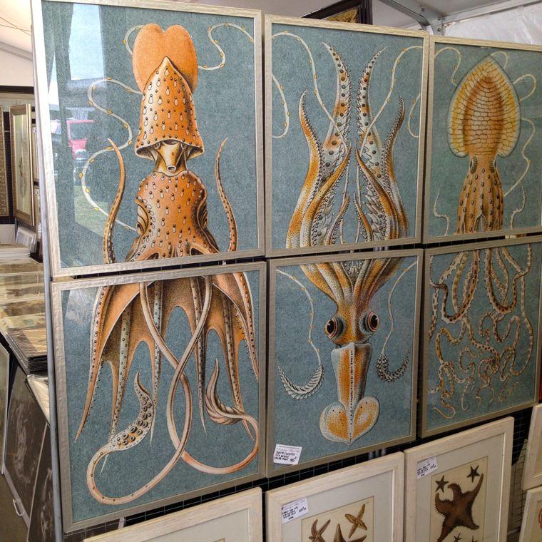 Triptych Squid