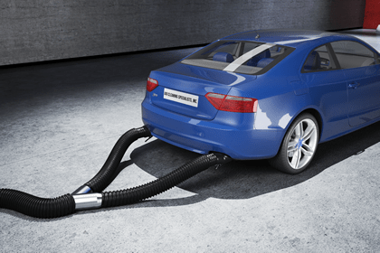 crushproof hose com garage exhaust