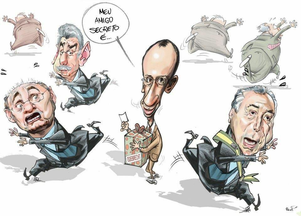 Resultado de imagem para caricatura feia de gilmar mendes