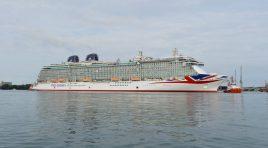 Britannia da P&O Cruises apresentado esta semana em Itália