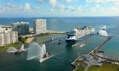1st arrival Celebrity EDGE in Port Everglades