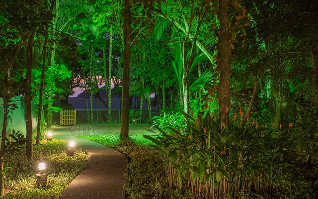 Discovery Beach House path to beach at night