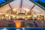 Manuel Antonio Vacation Rental VP Private Resort pool and house at night