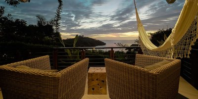 Sunset Hideaway Studio balcony sunset view