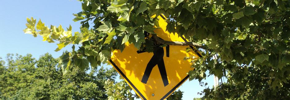 Branch blocking sign