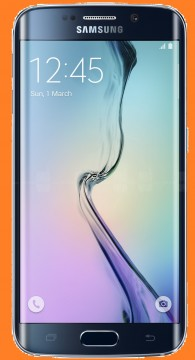 S6 Edge with shitty mspaint orange background
