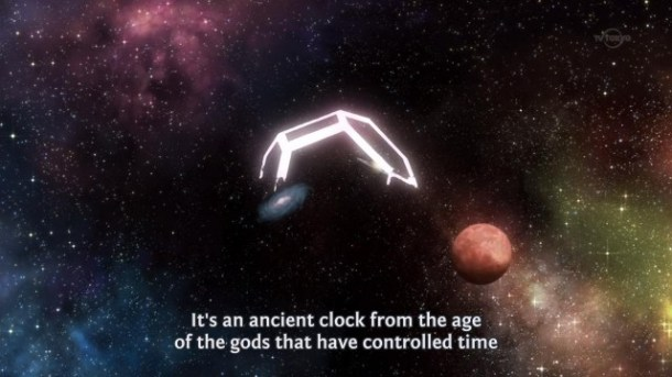 Original: It's an ancient clock from the age of the gods that has controlled time
