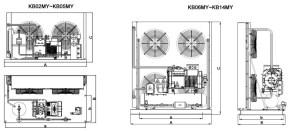 Bitzer cold room condensing unit & refrigeration pressor