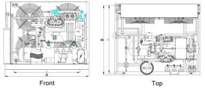 bitzer two stages blast freezer, condensing unit low temp