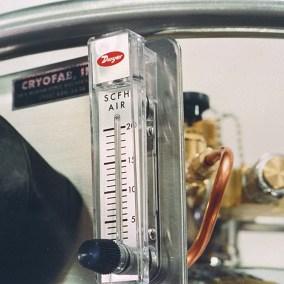 installed flow meters for liquid helium dewars