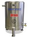 custom cryogenic tank with legs and drain