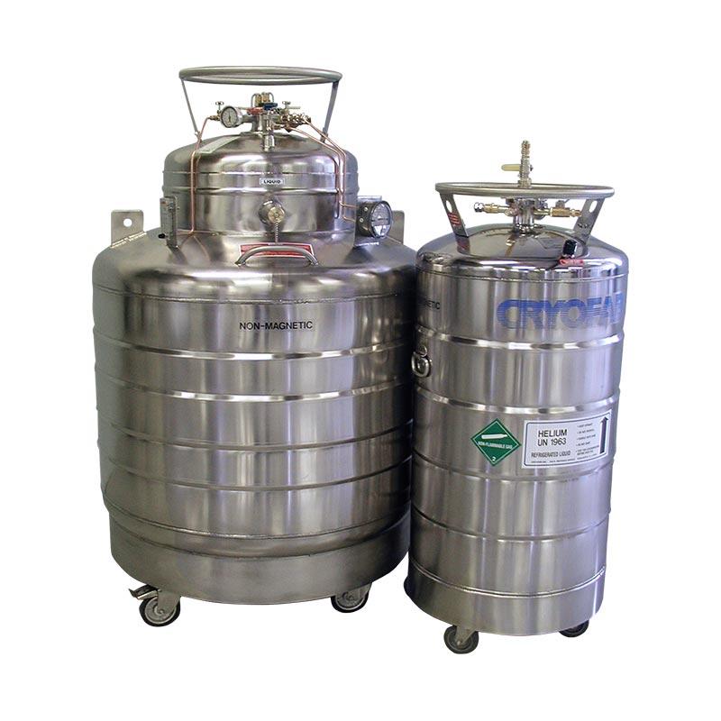 liquid helium dewars
