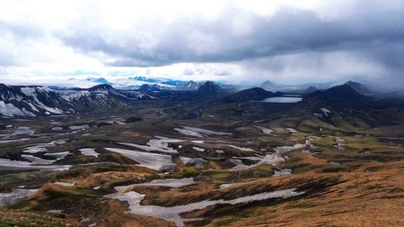 Hiking down into Þórsmörk, Iceland. June 2011.