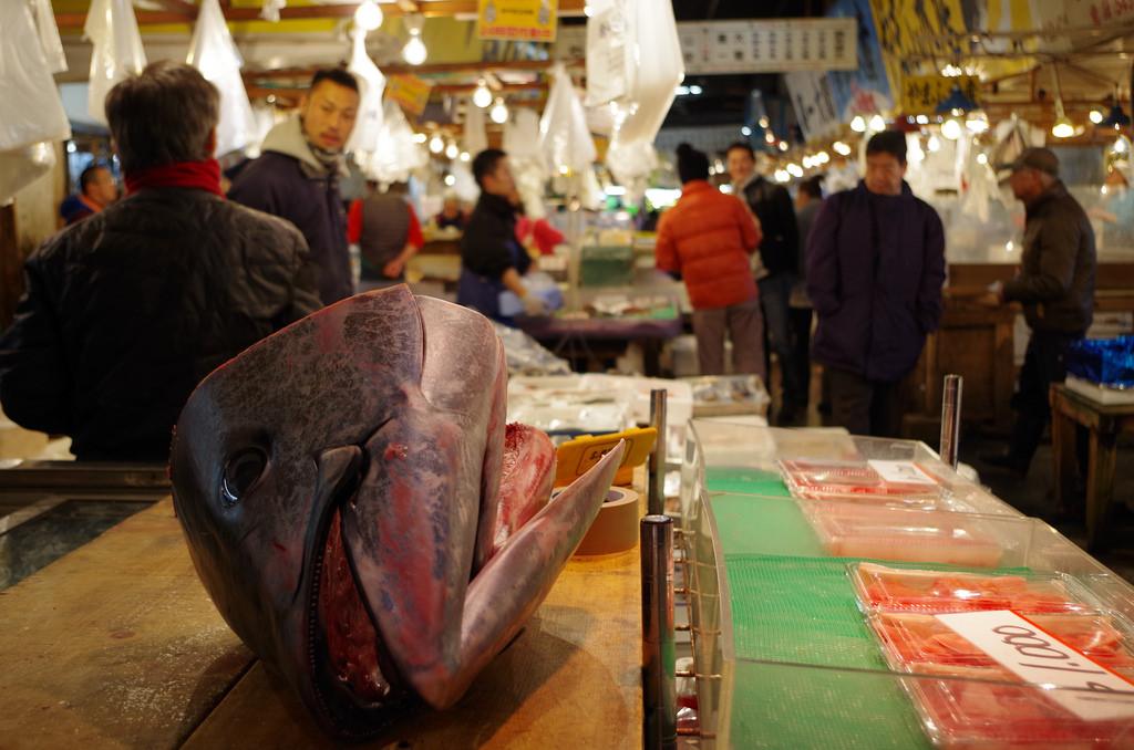 Tokyo Tsukiji fish market